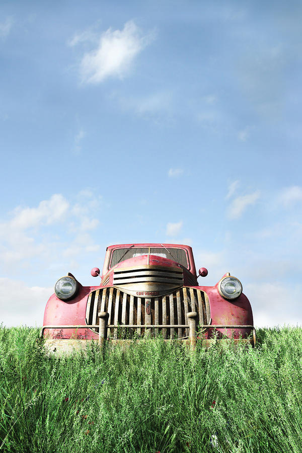 Old Truck Digital Art  - Old Truck Fine Art Print