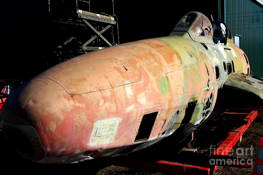 Old Us Fighter Jet Fuselage . 7d11252 Photograph