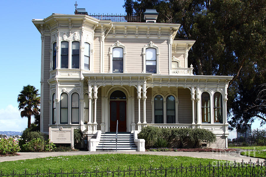 Old Victorian Camron-stanford House . Oakland California . 7d13440 Photograph  - Old Victorian Camron-stanford House . Oakland California . 7d13440 Fine Art Print