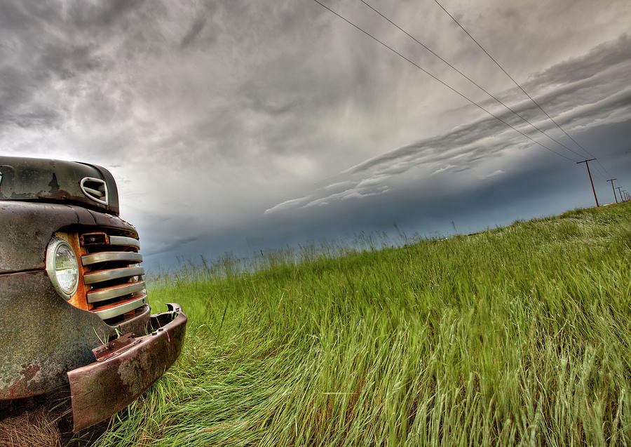 Old Vintage Truck On The Prairie Photograph