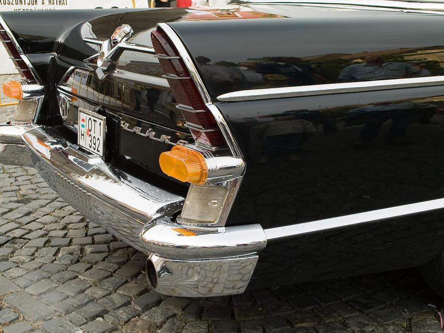 Old Photograph - Old Volga Car by Odon Czintos