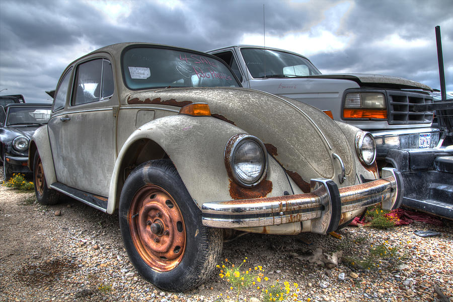 Old vw beetle is a photograph by jonathan davison which was uploaded