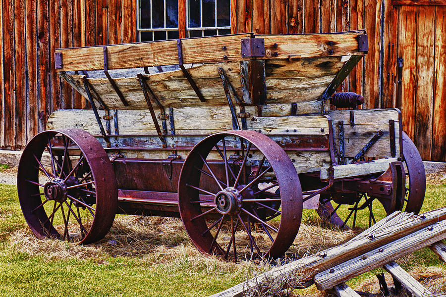 Old Wagon Bodie Ghost Town Photograph - Old Wagon Bodie Ghost Town by Garry Gay