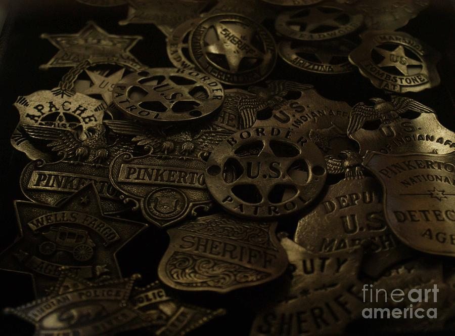 Old West Badges Photograph