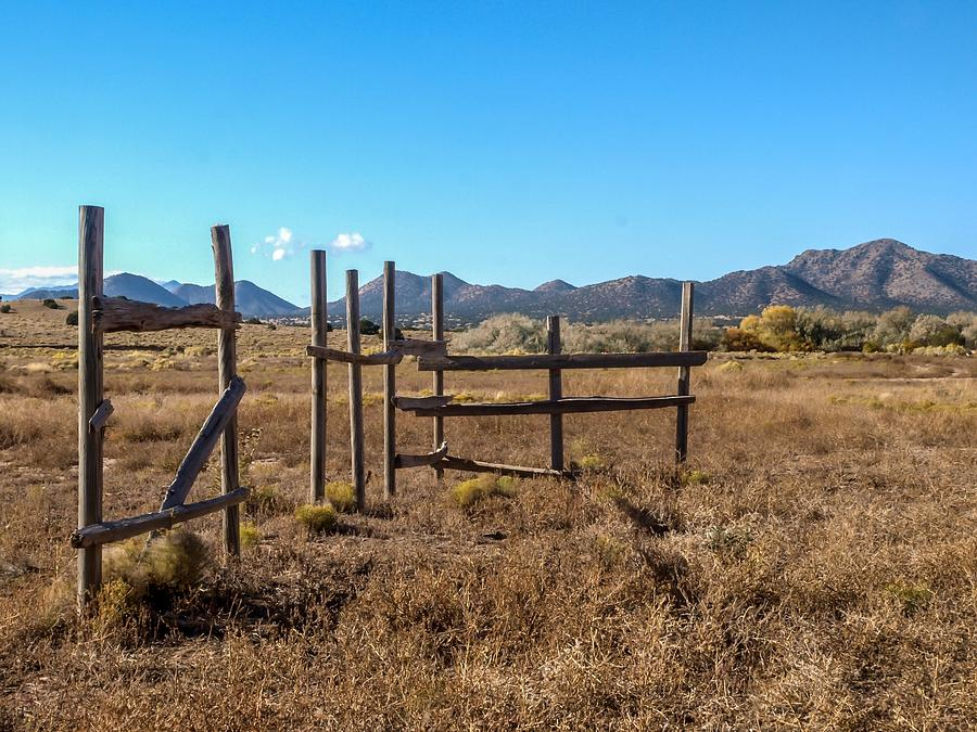 Abandoned Photograph - Old West Corral by Ralph Brannan