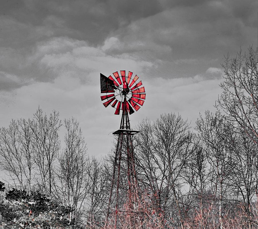 Old Wind Mill Sculpture  - Old Wind Mill Fine Art Print