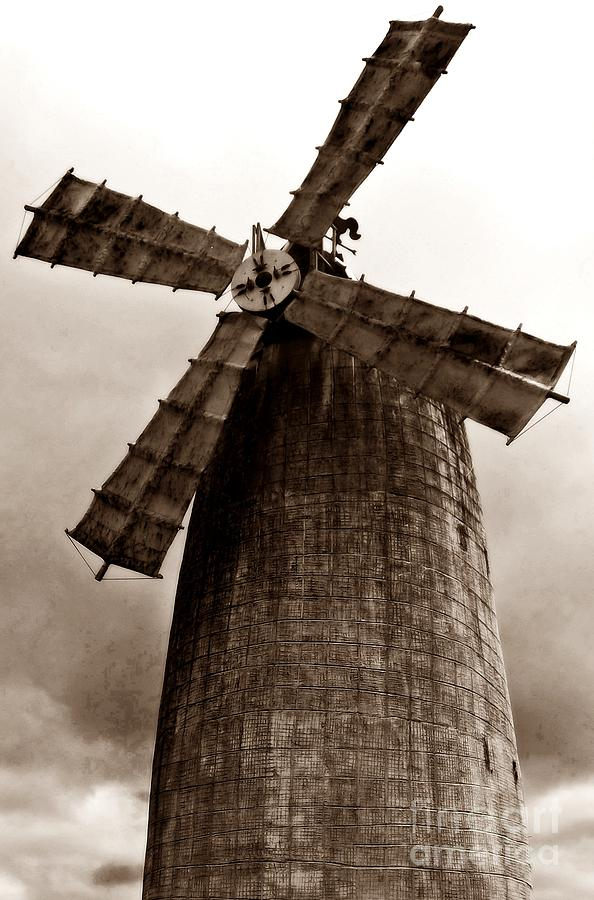 Old  Windmill 2 Painting  - Old  Windmill 2 Fine Art Print