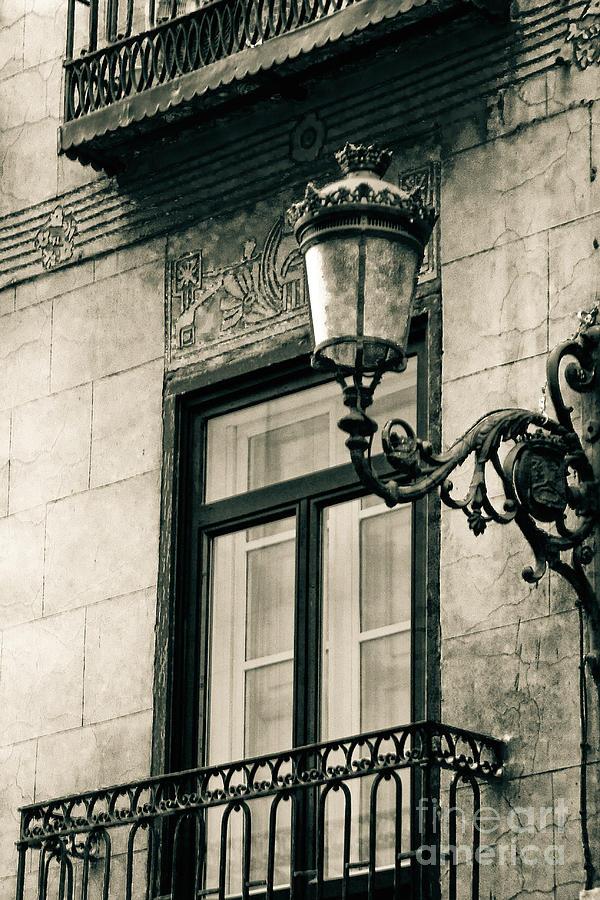 Old Window Lamp Photograph