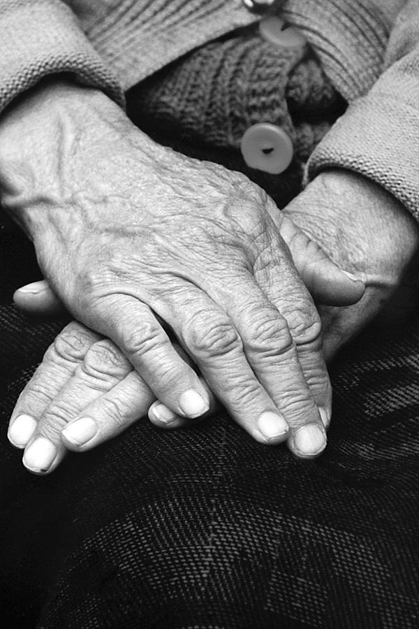 Age Photograph - Old Womans Hands by Emanuel Tanjala