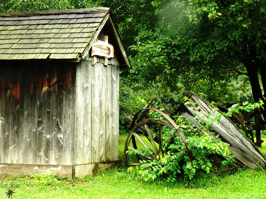 Old Wood Shed Photograph