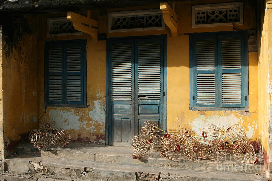 Old Yellow House In Vietnam Photograph  - Old Yellow House In Vietnam Fine Art Print