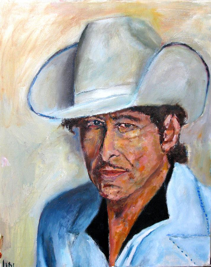 Older Bob Dylan Painting  - Older Bob Dylan Fine Art Print