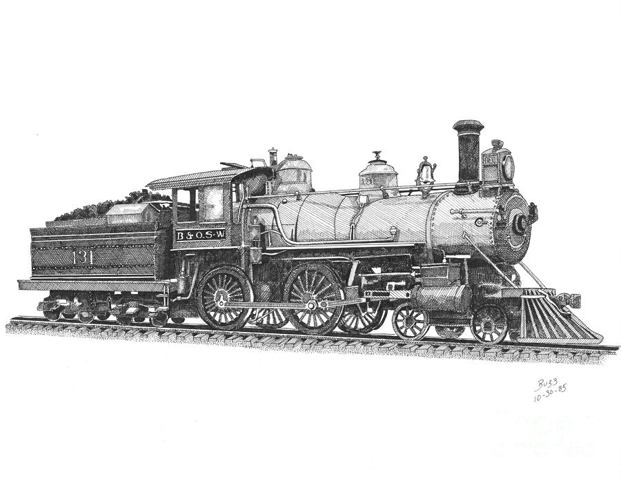 Steam Engine Train Drawings