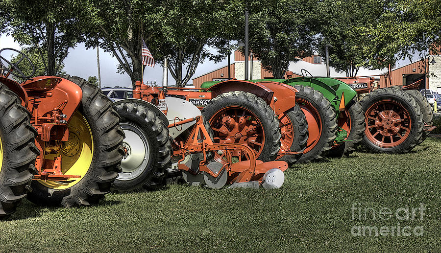 Tractors Photograph - Oldies But Goodies by David Bearden