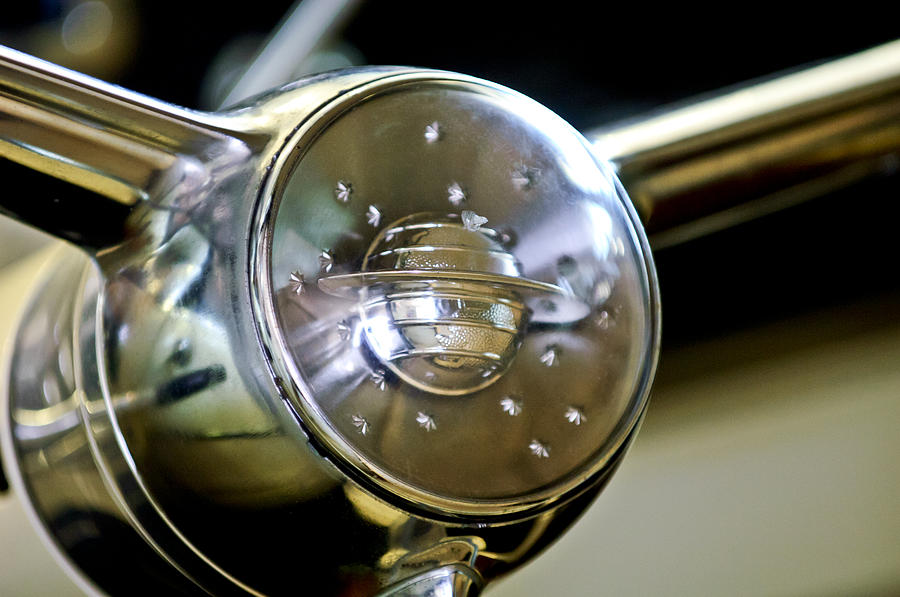 Oldsmobile Steering Wheel Emblem Photograph