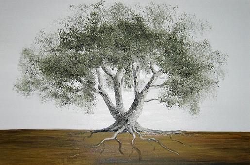 olive tree - Greek life tree by Anna Witkowska