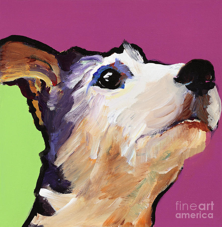 Terrier Painting - Ollie by Pat Saunders-White