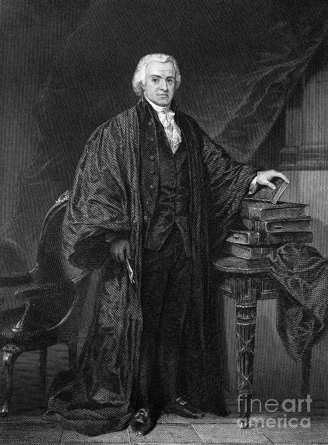 Olvier Ellsworth (1745-1807). Chief Justice Of The United States Supreme Court, 1796-1799. Steel Engraving, 1863 Photograph