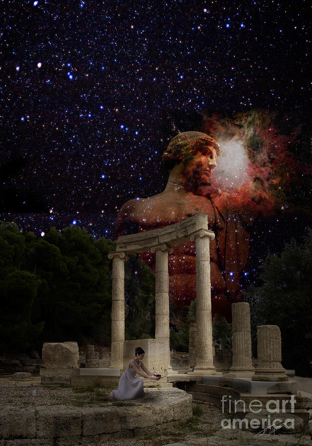 Olympias Temple Digital Art  - Olympias Temple Fine Art Print