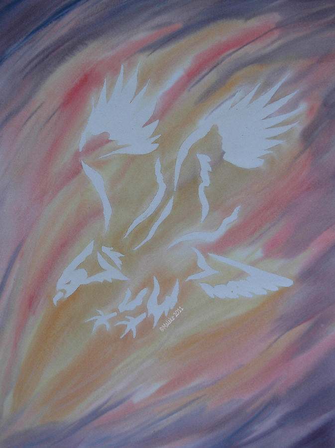 On Eagles Wings Painting