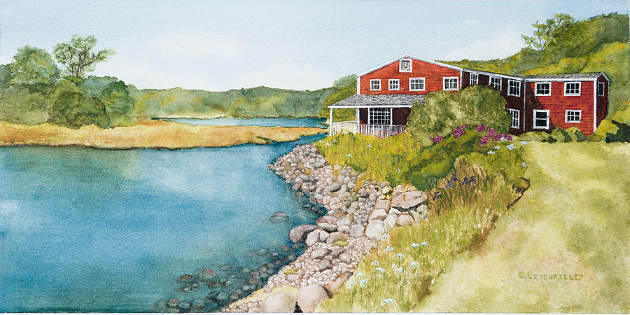 Watercolor Painting - On Grist Mill Pond by Gregg Litchfield