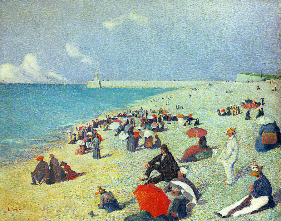 On The Beach Painting