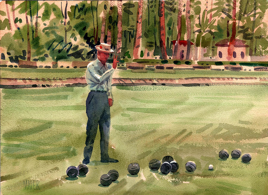 On The Bowling Green Painting  - On The Bowling Green Fine Art Print