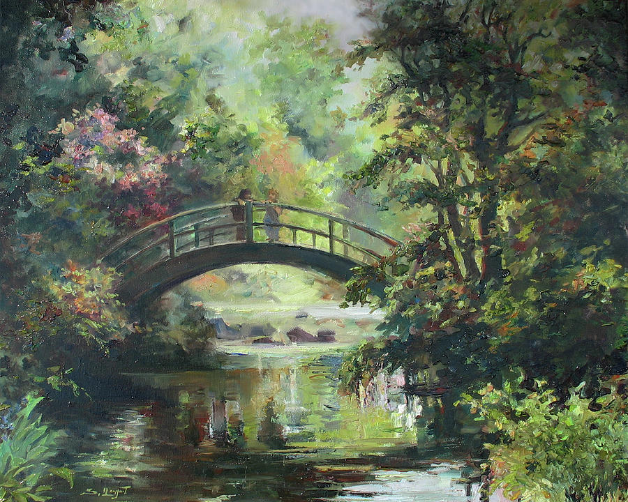 On The Bridge Painting  - On The Bridge Fine Art Print