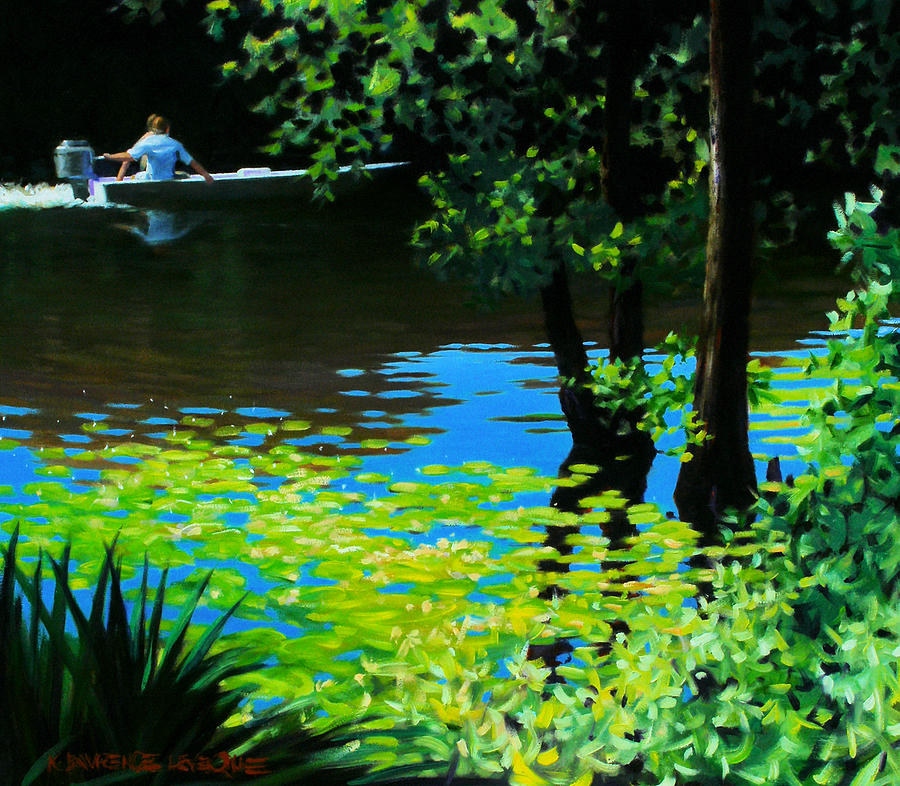 On The Calcasieu Painting  - On The Calcasieu Fine Art Print