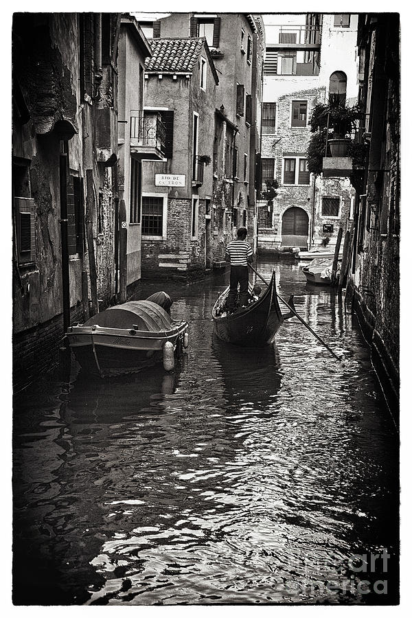 On The Canal - Venice Photograph  - On The Canal - Venice Fine Art Print