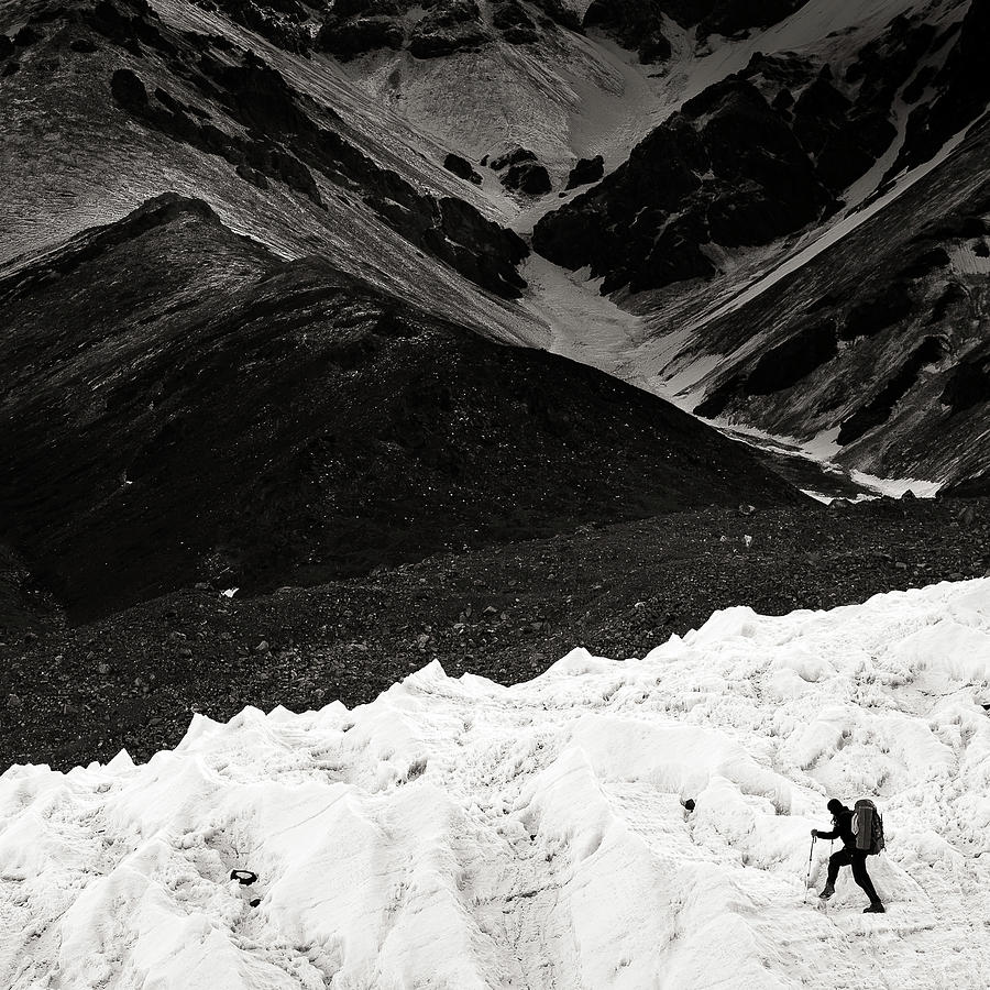 On The Glacier Photograph