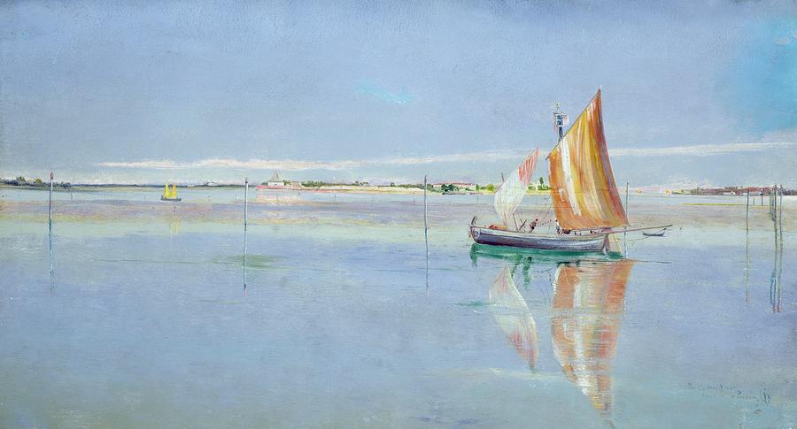 On The Lagoon Painting