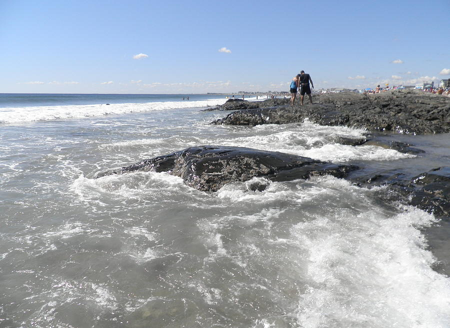 Atlantic Ocean Photograph - On The Rocks by Kate Gallagher