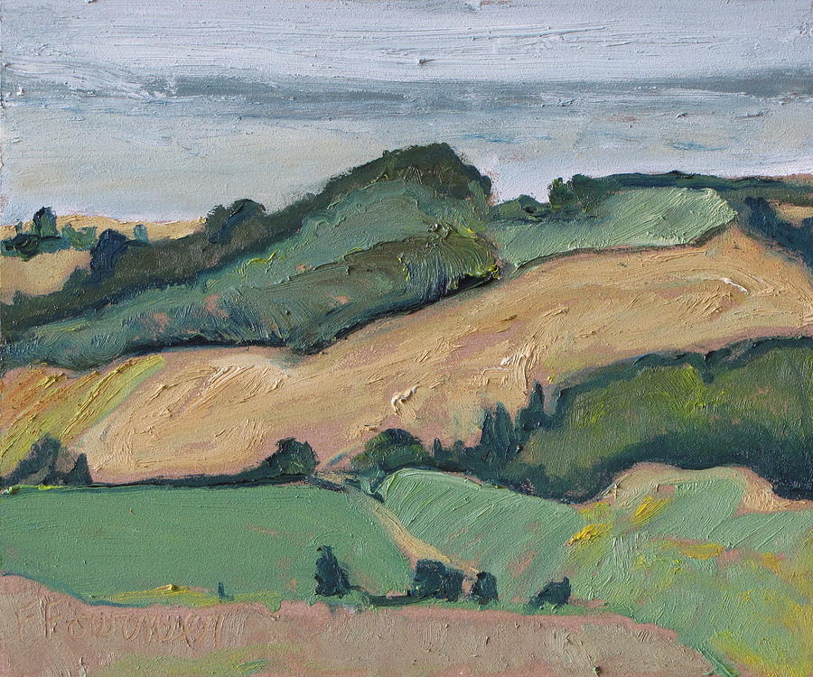Fournier Painting - On The Valley by Francois Fournier