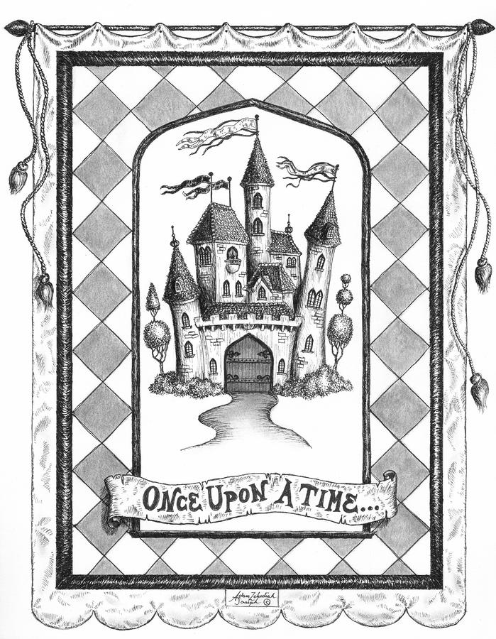 Once Upon A Time Drawing  - Once Upon A Time Fine Art Print