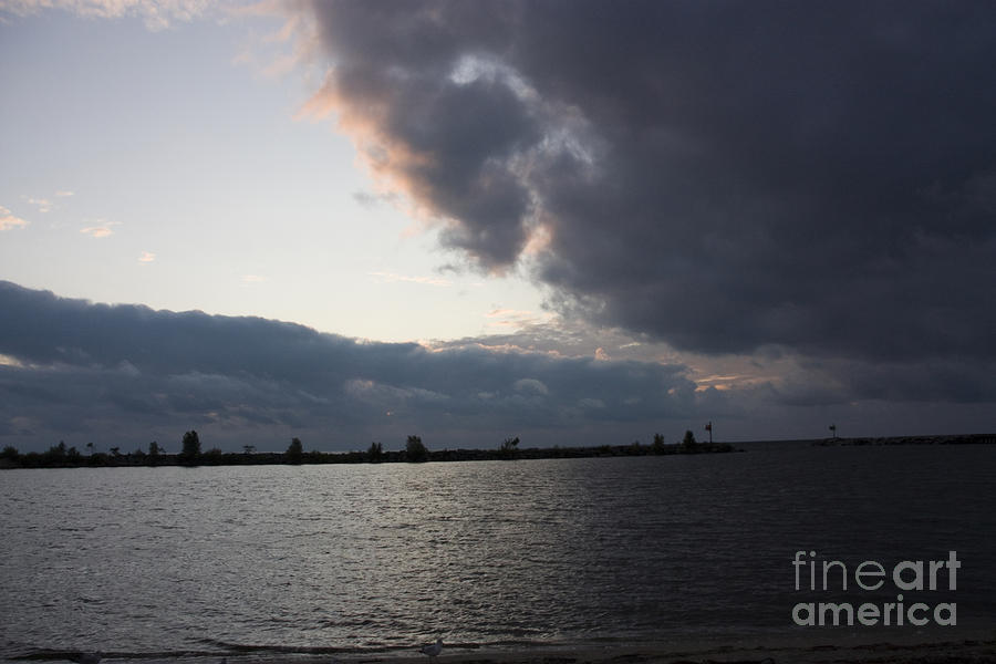 Oncoming Storm On Lake Michigan Photograph  - Oncoming Storm On Lake Michigan Fine Art Print