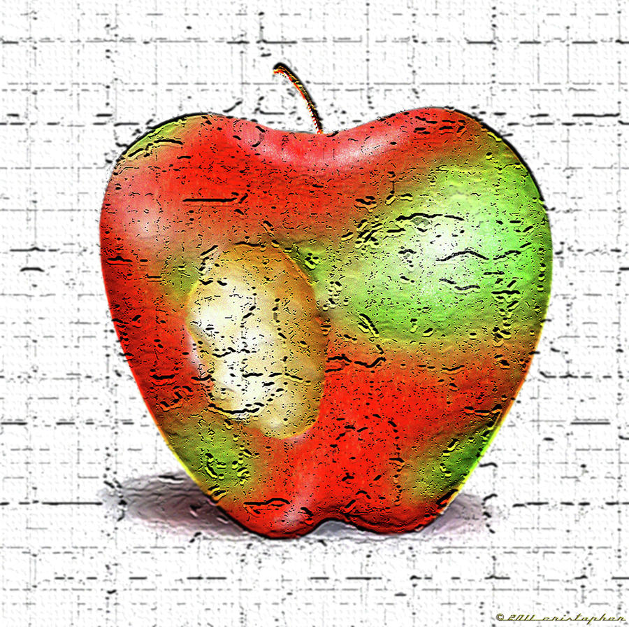 One Bad Apple Digital Art  - One Bad Apple Fine Art Print