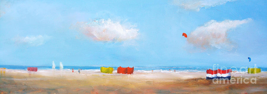One Beach Two Days 2 Painting  - One Beach Two Days 2 Fine Art Print