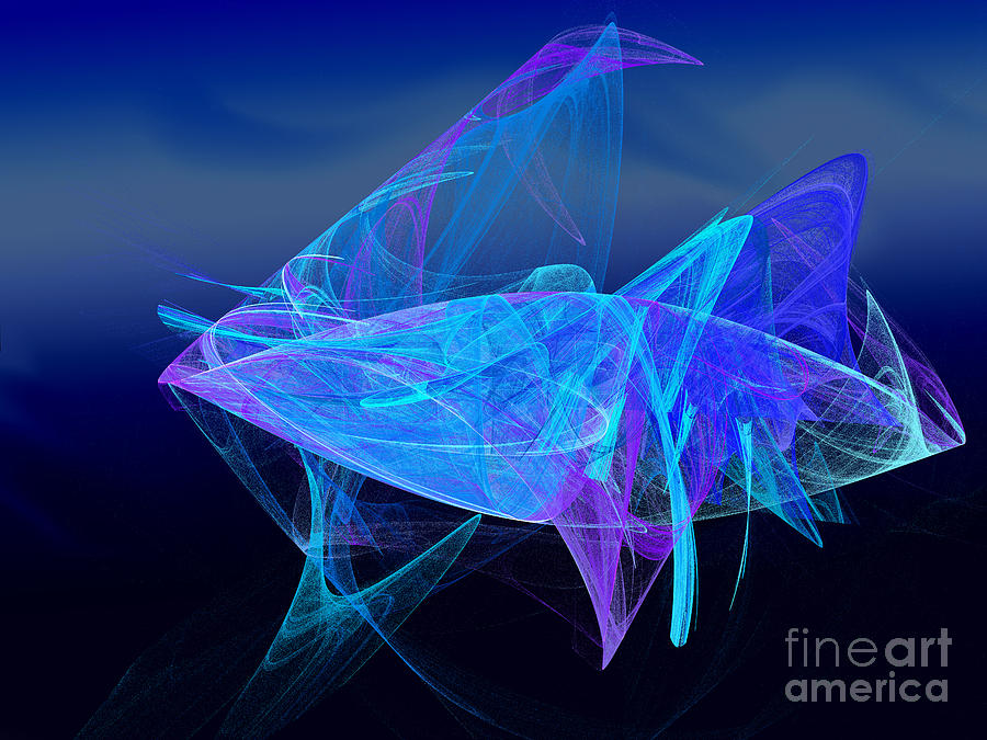 One Fish Blue Fish Digital Art