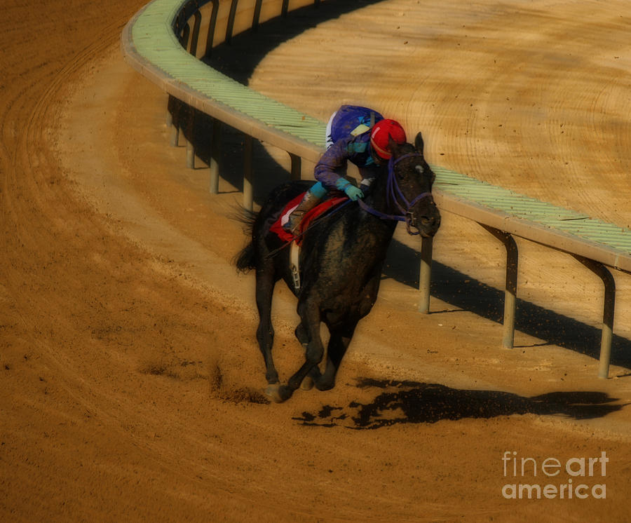 Horse Racing Photograph - One Is The Loneliest Number by Steven  Digman
