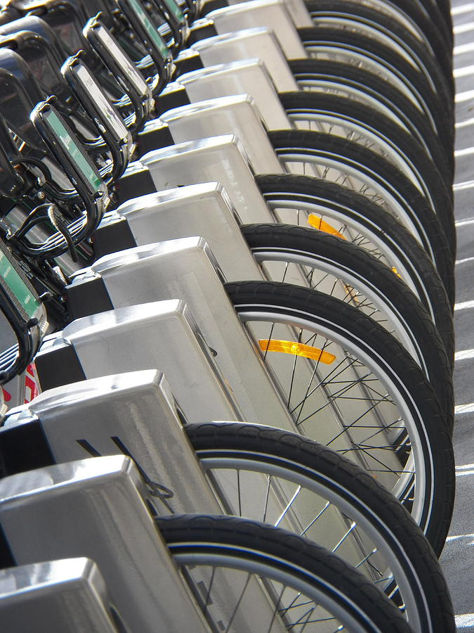 Bicycles Photograph - One Missing by Steven Huszar