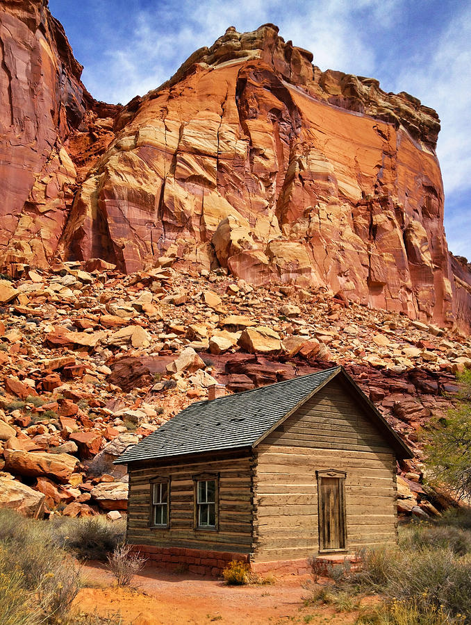 One Room Log School House, Fruita Photograph