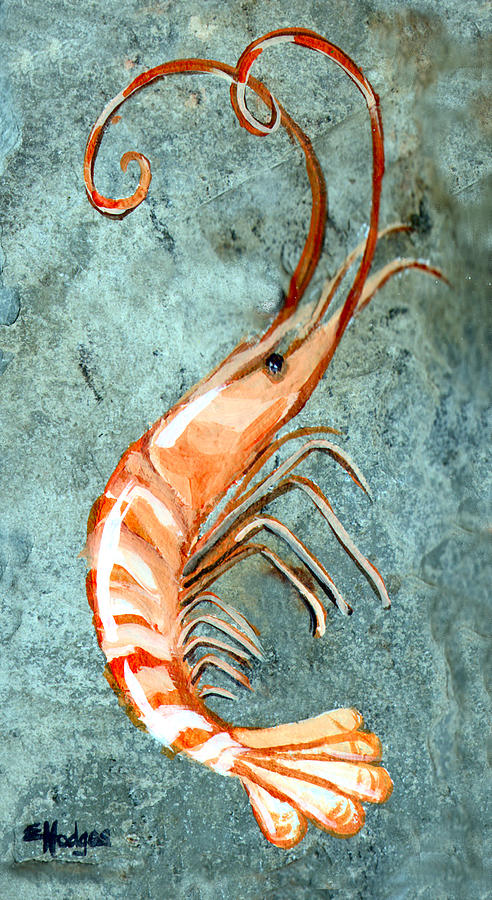 One Shrimp Painting  - One Shrimp Fine Art Print