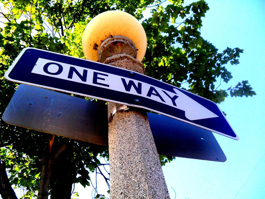 One Way Photograph