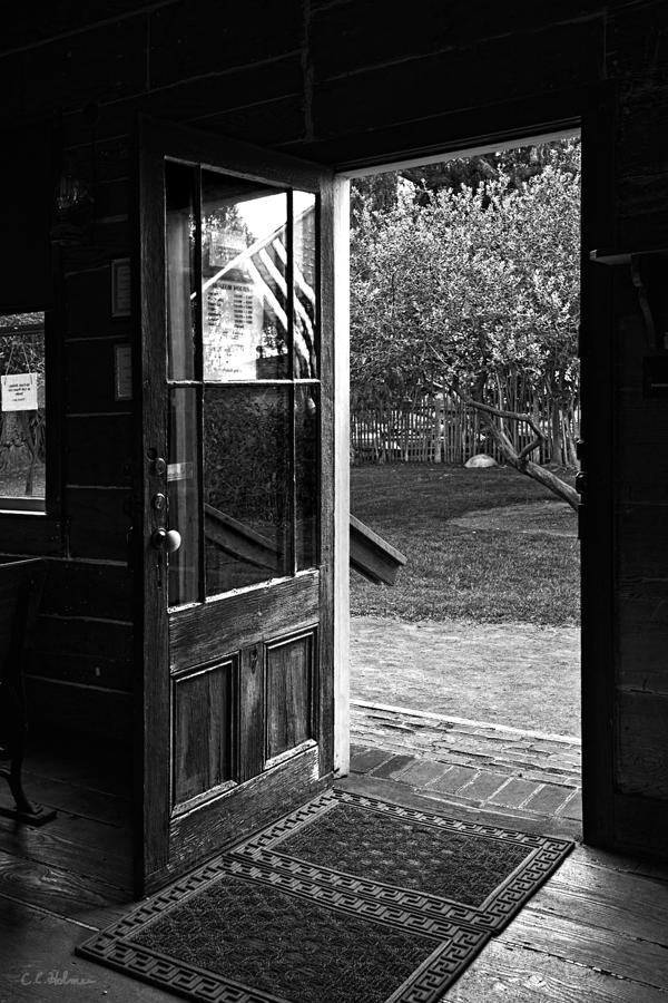 Open Door B-w Photograph  - Open Door B-w Fine Art Print
