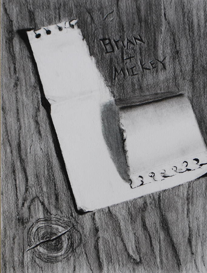 Still Life Drawing - Open Me by Brian Hustead