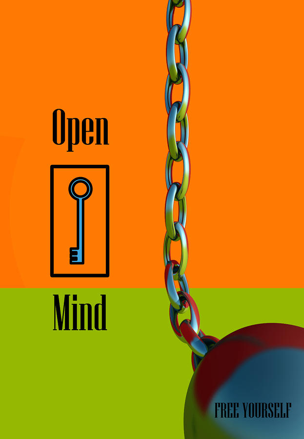 Open Mind Digital Art  - Open Mind Fine Art Print