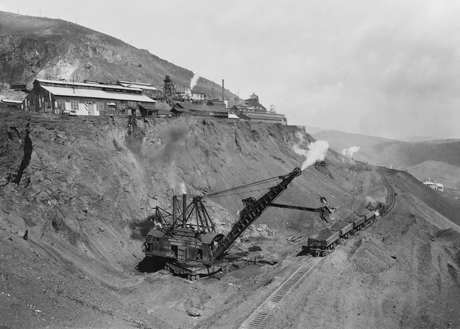 Open Pit United Verde Mine On Mountain Photograph