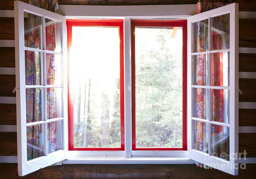 Windows Photograph - Open Window In Cottage by Elena Elisseeva