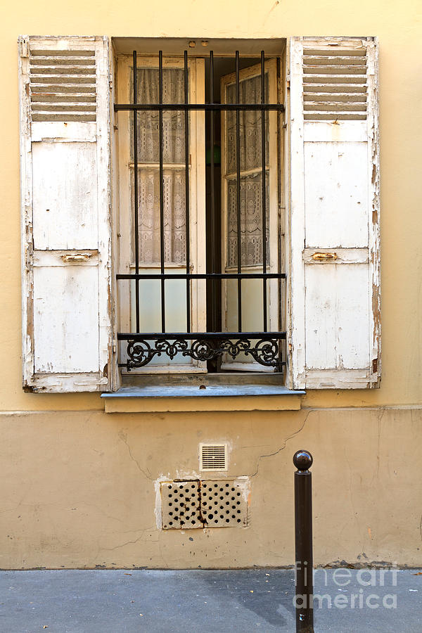 Ground Floor Window : Open window of a ground floor apartment in paris by louise